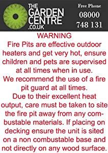 Garden Patio Heater Fire Pit Brazier Chiminea 36 by Jiangsu