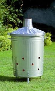Gardman Dustbin Incinerator - Galvanised 34605 by GreatGardensOnline