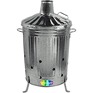 Gardman Galvanised Dustbin Incinerator For Burning Your Garden Waste from Gardman Garden Care