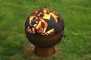 Good Directions Fb-4 26-inch Wrought Iron Fire Bowl With Orion Firedome from Good Directions, Inc.