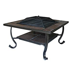 Greenbay Outdoor Garden Fire Pit Patio Heater Stove Firepit Square Brazier Bbq from Manufactured for Greenbay