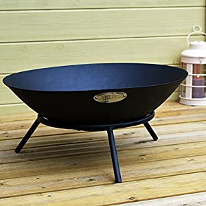 Harbour Housewares Cast Iron Garden Fire Pit Burner - 560mm Diameter by Harbour Housewares