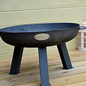 Harbour Housewares Cast Iron Garden Fire Pit Burner With Handles - 670mm Diameter from Harbour Housewares