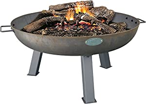 Harbour Housewares Cast Iron Garden Fire Pit Burner With Handles - 870mm Diameter by Harbour Housewares