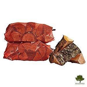 Hardwood Firewood Chunky Logs -kiln Dried - Large Heavy 40 Litre 25cm Long Perfect For Open Fire Stoves Log Burner Fire Pits Pizza Ovens Fast Delivery 2 X 15kg Net from Gwernyfed Wood