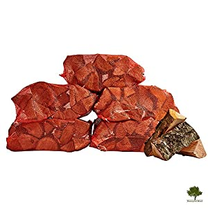 Hardwood Firewood Chunky Logs -kiln Dried - Large Heavy 40 Litre 25cm Long Perfect For Open Fire Stoves Log Burner Fire Pits Pizza Ovens Fast Delivery 5 X 15kg Net by Gwernyfed Wood