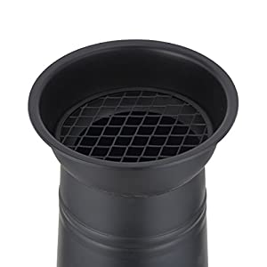 Harima Logi - Medium 93cm 36 12 Inch Black Cast Iron Outdoor Garden Chimenea Fire Pit Brazier Patio Heater Chimnea Fireplace With Bbq Grill And Rain Cover Chiminea Incinerator Log Wood Burner Chimney from Harima