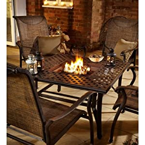 Hartman Fire Pit Table And Four Chairs Set By Hartman At The Garden Incinerat