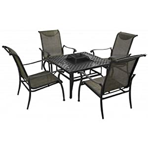 Hartman Fire Pit Table And Four Chairs Set from hartman