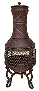 Heavy Duty Chiminea Dark Grey 89cm X 39cm Radiates More Heat Than Clay