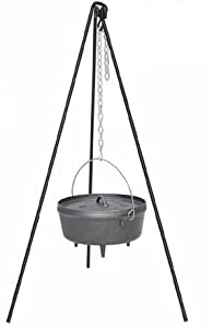 Heavy Duty Tripod 4 Litre Cast Iron Dutch Oven Pot Camp Fire Cooking Camping by Ronnie Sunshines