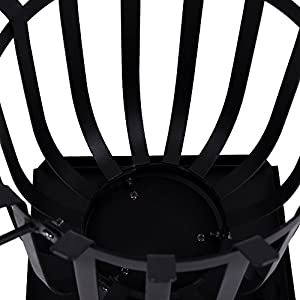 Home Discount Steel Brazier Outdoor Garden Patio Heater Fire Burning Log Wood Burner Basket Bbq Grill Ash Tray Sqaure from Home Discount
