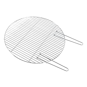Homescapes Bbq Grill For Fire Bowl Circular Steel Barbeque Grill With Handles For Fire Pit 60cm Diameter from Homescapes