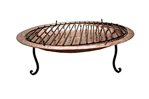 Homescapes Large Copper Fire Pit 77 Cm Diameter Ideal As Fire Bowl Barbeque Or Log Burner by Homescapes