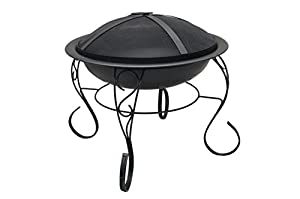 Homescapes Large Iron Indian Recycled Kadai Fire Pit 60cm Diameter Fire Bowl Ideal As A Log Burner And Barbeque from Homescapes