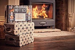 Hotties Firewood Logs - 2 X Pack Of 10 Hotties