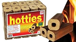Hotties Firewood Logs - 2 X Pack Of 10 Hotties