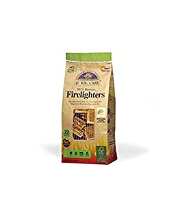 If You Care - 100 Biomass Firelighters - Non Toxic 72 Pieces - Environment Friendly from If You Care