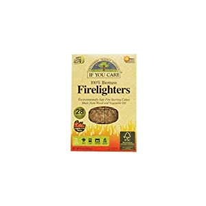 If You Care Non-toxic Wood And Vegetable Oil Firelighters 28 Pieces Pack Of 4 112 Pieces from Source Atlantique