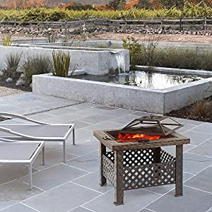 Ikayaa Metal Garden Fire Pit Fireplace by iKayaa