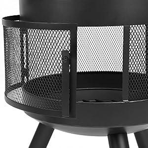 Ikayaa Outdoor Fire Pit Chimenea Metal Patio Heater Fireplace Garden Chimney Wood Burner 600 Heat-resistant With Poker from iKayaa