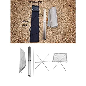 Inblossoms Portable Outdoor Camping Fire Pit Collapsing Steel Mesh Fireplace Folding Wood Burning Stove With Carry Bag from InBlossoms