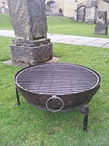 Indian Fire Bowl Set 90cm Bowl Grill Stand Kadai Style Bowl Fire Pit from Red Apple (South West) Limited