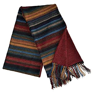 Invisible World Womens 100 Alpaca Wool Scarf Long Knit Winter Fall Chiminea