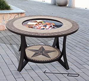 Get java table firepit large fire bowl garden heater for Concreteworks fire table