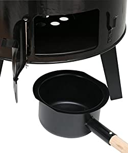 Kaminoflam Outdoor Grill Charcoal - Outdoor Cooker In Steel - Outdoor Soup Pot With Chiminea - Goulash Pot Tripod - Outdoor Kitchen - Camping Kitchen - Field Kitchen from Kamino-Flam