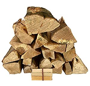 Kiln Dried Hardwood Firewood Logs 15kg Suitable For Fire Pits Chimineas Wood Burners Stoves Fireplaces And More Sustainably Sourced British Hardwood Includes Free Kindling from LogPile