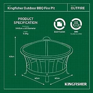 Kingfisher Outfire Fire Pit Bbq by Bonnington Plastics Ltd
