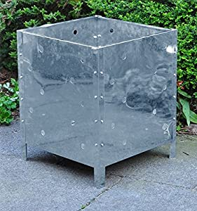Kingfisher Square Galvanised Steel Garden Waste Incinerator Fire Bin by Kingfisher
