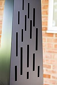 La Hacienda 150 Cm Oxford Contemporary Steel Chiminea Patio Heater With Wood Store - Black from La Hacienda Ltd