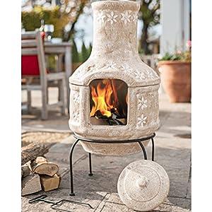 La Hacienda 2 Piece Daisy Chain Barbecue Clay Chimenea by La Hacienda