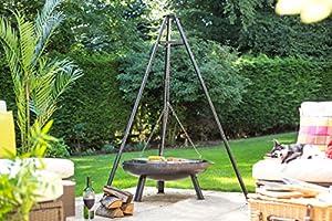 La Hacienda 55578grill Firewood Black Barbecuebbqs Grills Grill Firewood Steel Black Round Steel from La Hacienda