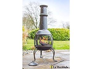 La Hacienda 56210 Leon Large Chimenea Chiminea Mesh Bronze Steel Patio Heater by la Hacienda Ltd