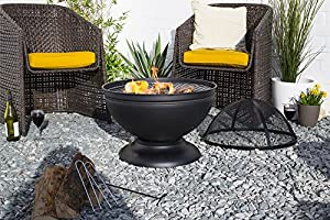 La Hacienda 58183 Globe Fire Pit With Grill - Black from La Hacienda Ltd