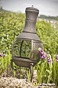 La Hacienda Cast Iron Mesh Chimenea Bronze 56021 from GreatGardensOnline