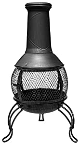 La Hacienda Leon Medium Mesh Bronze Effect Chimenea Chiminea Patio Heater