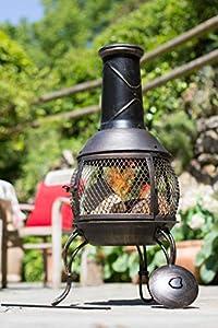 La Hacienda Leon Medium Mesh Bronze Effect Chimenea Chiminea Patio Heater