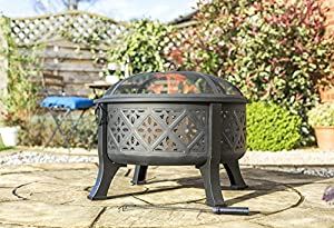 La Hacienda Moresque Moroccan Pattern Extra Large Deep Bowl Fire Pit by La Hacienda