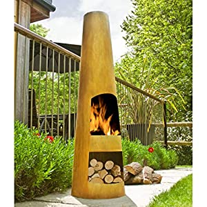 La Hacienda Oxidised Circo Chiminea Chimenea Patio Heater
