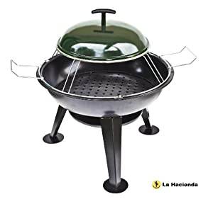 La Hacienda Pizza Firepit Steel Firepit - Black by La Hacienda