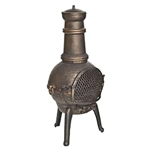 La Hacienda Sierra - Chiminea - Garden Heater With Grill - Bronze H 95cm from Worldstores