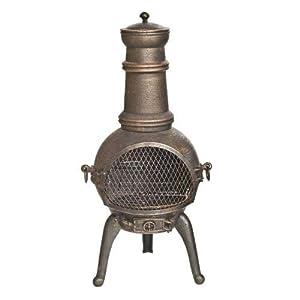 La Hacienda Sierra - Chiminea - Garden Heater With Grill - Bronze H 95cm from Worldstores