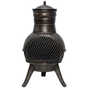 La Hacienda Squat Steel Cast Iron Chimenea Patio Heater