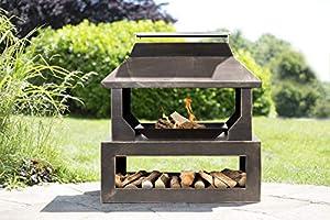 La Hacienda Stonehurst Steel Outdoor Fireplace Bronze Effect 58281 from La Hacienda