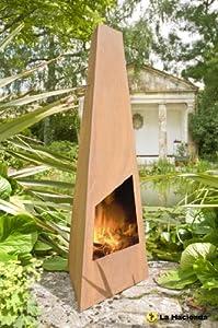 La Hacienda Triga Chiminea Free Outdoor Cover Patio Heater