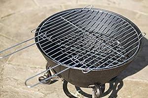La Hacienda Volta Cast Iron Firepit With Cooking Grill Bronze Effect 56259 by La Hacienda
